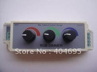Free shipping 10pcs Three-way dimmer LED RGB strip Dimmer, 3-way full-color LED dimmer