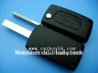 Peugeot 407 flip key case&key blank&key shell&key cover no logo