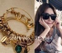 Fashion 5pcs/sets 6pcs/set layered charm bangles free-shipping