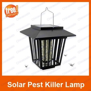 Insect Pest Mosquitoes Killer Solar Lantern Lamp Light,Xmas For year-end cleaning,Free Shipping