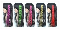 Hot Mixed color 50pcs Star Clip On Synthetic Feather Wigs Hair Accessories pp100