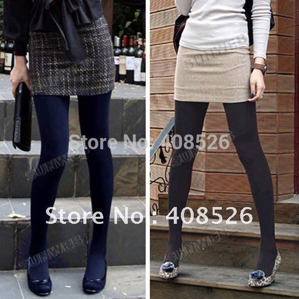 Winter Fashion Slim Fleece Tights Pantyhose Warmers Leggings Women Stockings 5 Colors 3329(China (Mainland))