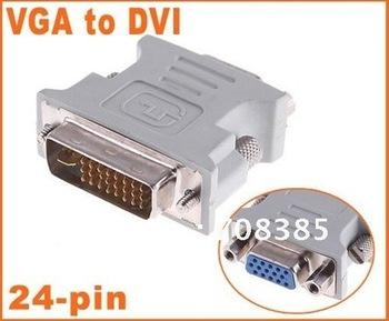 free shipping DVI male to VGA femal,DVI DVI-I (M) to VGA (F) video converter/adapter