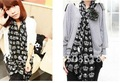 2011 Woman's Imitate Silk Crown design Scarf Big Soft Scarves shawl Chiffon Scarf 180X70cm elegant