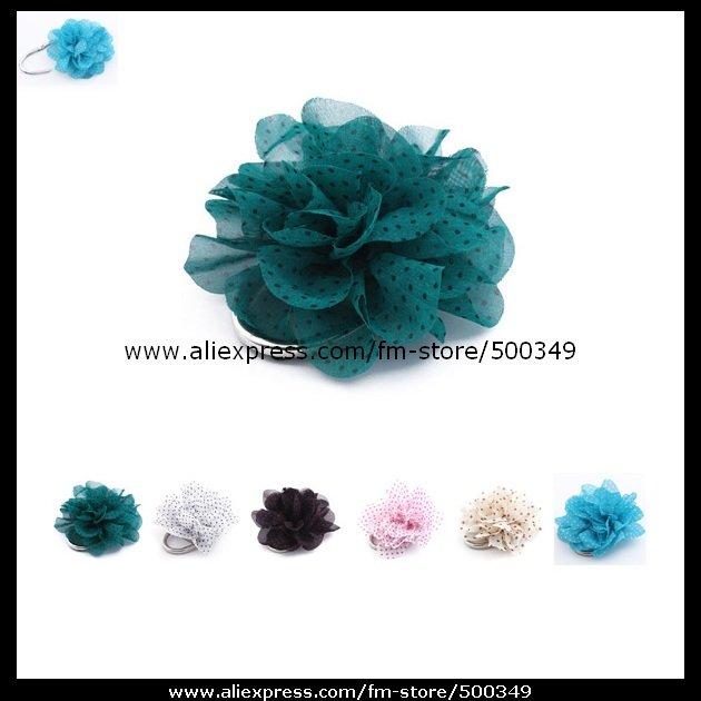 New Design Fabrics Flower PadLock Purse Hanger Foldable Handbag Hook Bag Hanger Cloth Dot Pattern Design(China (Mainland))