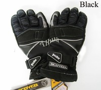 100% water proof Motorcycle Bike Racing Winter Riding FULL finger Protective Gloves BLACKE SIZE (Optional): M,L,XL