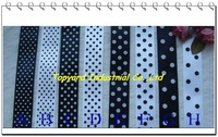 Wholesale 25 mm Black and White Series Dot Lace Ribbon Free Shipping