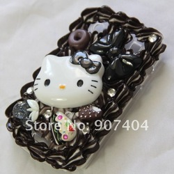 Free Shipping 2 pcs NEW Ice Cream cake hello kitty case cover for BLACKBERRY BOLD 9930 9900 Wholesale(China (Mainland))
