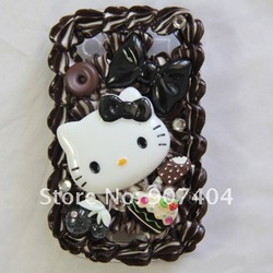 Free Shipping 5 pcs NEW Ice Cream cake hello kitty case cover for BLACKBERRY BOLD 9930 9900 Wholesale(China (Mainland))