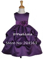 Детское платье Hot Sale Appliques Organza Taffeta Flower Girl Dress Custom-size / retail