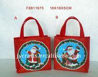 16X5X16+9CM heat transfer printed christmas gift bag
