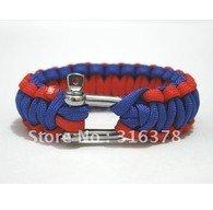 10pcs lot wholesale NEW stainless buckle cord Whistle woman Paracord parachute  Survival Bracelet