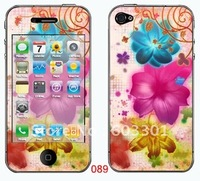 Mix designs for iphone 4 skin, have hundreds of different designs, accept mix design mix order, color sticker for iphone 4