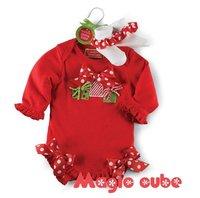 In stock ----Baby romper kids girl clothing infant Romper Christmas cute baby jumpsuit girls rompers 1130B ty