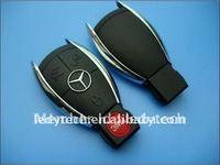 10pcs/lot  Benz 3+panic button remote smart key blank, key shell, key case fob