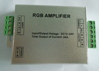 LED RGB amplifier;DC12-24V input,Max 8A each channel output