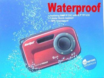New 2.7 inch TFT screen waterproof Camera 10m underwater 14 mega 8x zoom digital camera free shipping