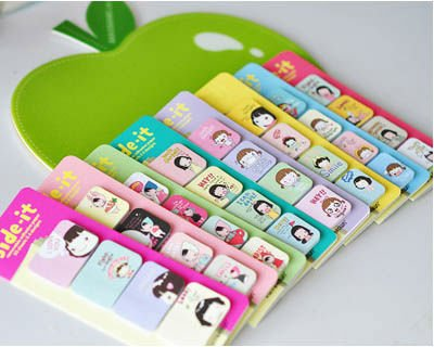 Free Shipping/New Cute Cooky Girl Notepad/Sticky Pad/Memo Pad/message post/Notebook Gift/Wholesale 8646(China (Mainland))