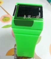 Super GREEN! New trend fashion watch, digital wrist watch, night light, stopwatch, alarm, movement &Free shipping