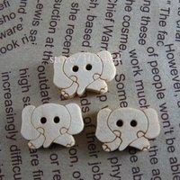 200pcs/lot cartoon elephant wood buttons Apparel/garment/clothes accessory DIY work Free Shipping