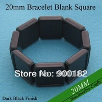 20MM Square Shaped Stretch Acrylic Blank Bracelets For Custom Photo Jewelry Making