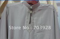 kiki 112404 100%  guaranteed Men thobe with emboridery  accept paypal islamic Men abaya Islamic men wear