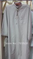 kiki 112404-c 100%  guaranteed Men thobe with emboridery  accept paypal islamic Men abaya Islamic men wear