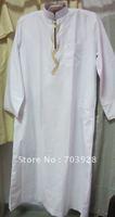 kiki 112405100%  guaranteed Men thobe with emboridery  accept paypal islamic Men abaya Islamic men wear