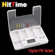 1pcs/lot Portable Digital Pill Tablet Medicine Box Alarm 4 Modes  #5404(China (Mainland))