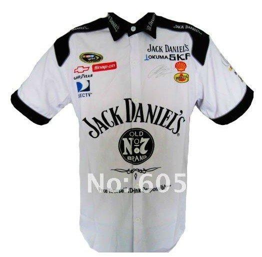 NEW HOT Pit Crew SHIRT Jack Daniel's NASCAR White top(China (Mainland))