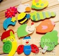 Free Shipping 120pcs/lot wooden cartoon fridge magnets/wooden cartoon magnetic stickers/fantastic creative toys