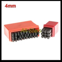 Free Shipping Brand New 36pc Letter Number Punch Stamps Jewelers Metalsmith 4mm Guaranteed 100%