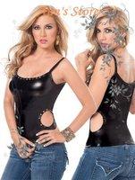 FREE SHIPPING!Sexy Ladies' T-Shirt,Sexy Clubwear Tops,Free size,NA25059b,Black