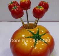 New arrive fruit forks vegetable shape chinese plutus resin fruit fork stainless fork,stainless steel forks