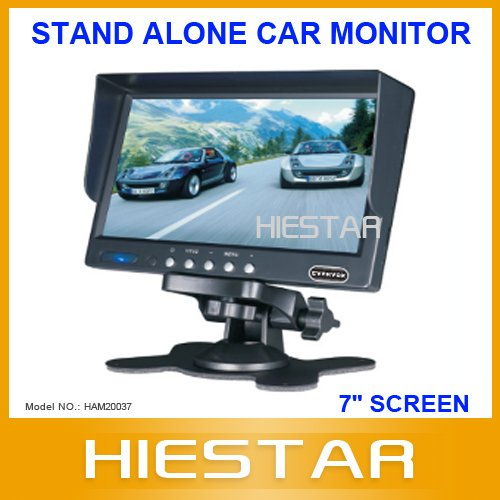 "Newest! 7"" interior stand alone tft lcd car monitor 2 way video input suitable for rear view camera(Hong Kong)"