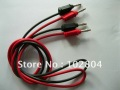2 Set (4pcs) 2 Colors Red Black Alligator Clip to B Type Banana Plug Silicone Lead Test Cable High voltage