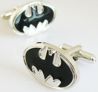 Black Batman Cufflinks , Men's Cuff links   Free shipping !