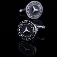 BENZ Car Sign Shape Cufflinks, Men's Cuff links   Free shipping !