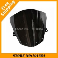 New Black Motorcycle Windshield Trim Shadow For Kawasaki ZX-10R 08-09 Windscreen Free Shipping [CK522]
