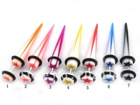 Free Shipping! UV acrylic fake ear taper,uv Body Jewelry