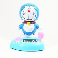 Hot Sale ! New Doraemon Flip Flap Solar Powerd Swing Shaking Toy  Solar Energy Dashboard Decor Toy