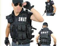 hot sale men leisure American swat CS tactics much pocket nylon canvas black outdoor coat vest