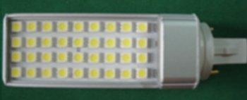 8W G24/E27 LED bulb,36pcs 5050 SMD LED,AC110V/220V input