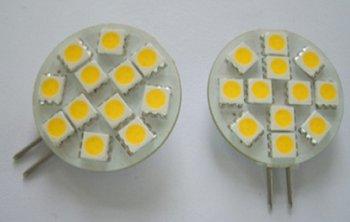 led G4 light bulb,2.3W;12pcs 5050 SMD LED;DC12V input