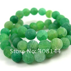 Free Shipping! Nice Green Weathering Agate Round Loose Beads 8mm-48pcs Strand/Loose Stone(China (Mainland))