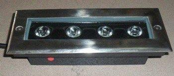4*1W high power led underground light,DC12V input,IP68,size:200*80*60mm;open hole:190*70mm