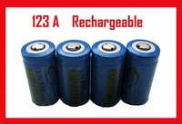 free shipping 50pcs/lot RECHARGEABLE CR123A 3.0V 3v 850mAh 123A LI BATTERY