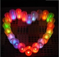 Free shipping! LED candle light, 7 colors changing candle, wedding or party, New Arrival