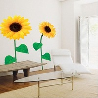 Free shipping ,Wholesale And Retail , sun flower Wall sticker