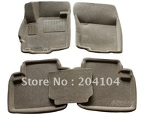 wholesale high quality 2011 2012 2013 MITSUBISHI OUTLANDER waterproof 3D suede car mats car floor mat car carpet 3color